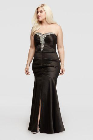 Mermaid Dress with Ruching