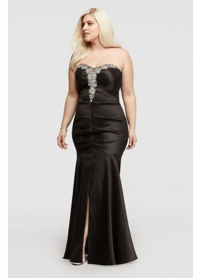 Long Mermaid/ Trumpet Strapless Formal Dresses Dress - Blondie Nites