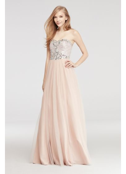 Long Ballgown Strapless Mother and Special Guest Dress - Blondie Nites