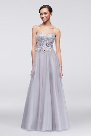 Long Strapless Ball Gowns