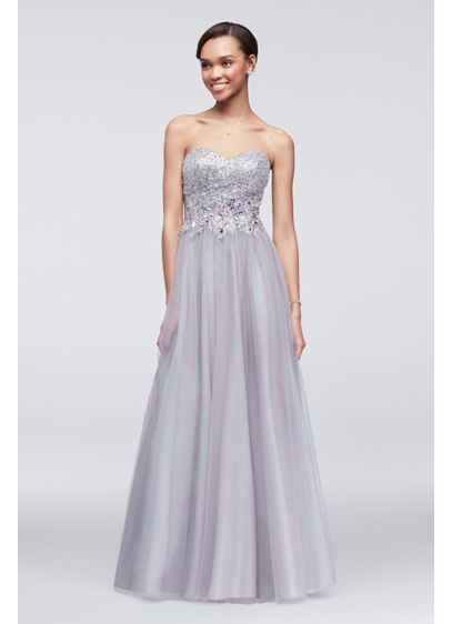 b6b0684ef9 Long Ballgown Strapless Cocktail and Party Dress - Blondie Nites