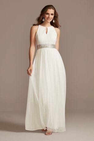 Long A-Line Halter Dress - RM Richards