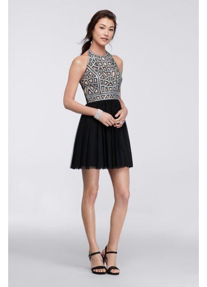 Short Ballgown Halter Daytime Dress - Blondie Nites