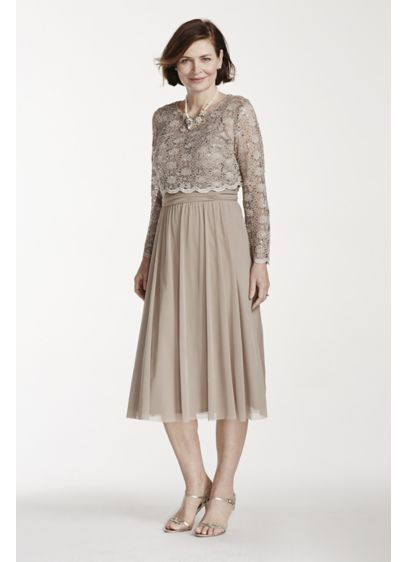 Short A-Line 3/4 Sleeves Cocktail and Party Dress - RM Richards