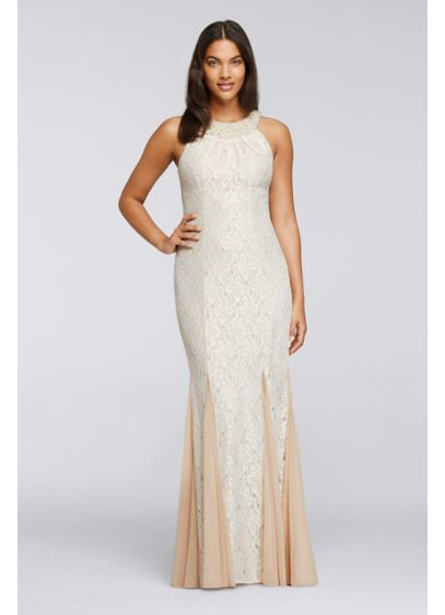 Long Ivory Soft & Flowy Cachet Bridesmaid Dress