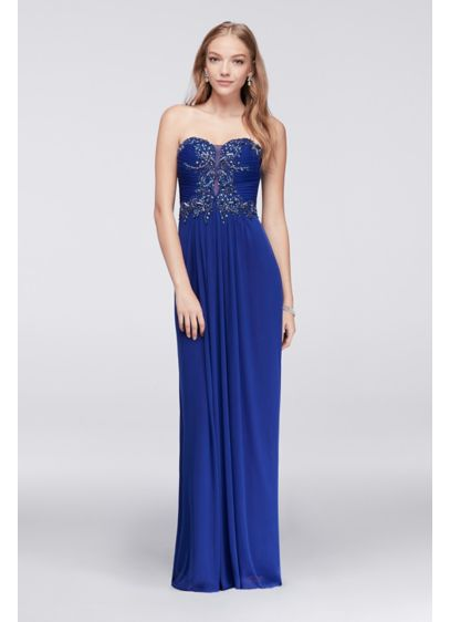 Long A-Line Strapless Mother and Special Guest Dress - Blondie Nites