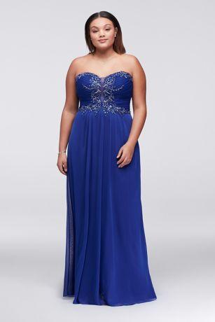 Strapless Plus Size Dresses