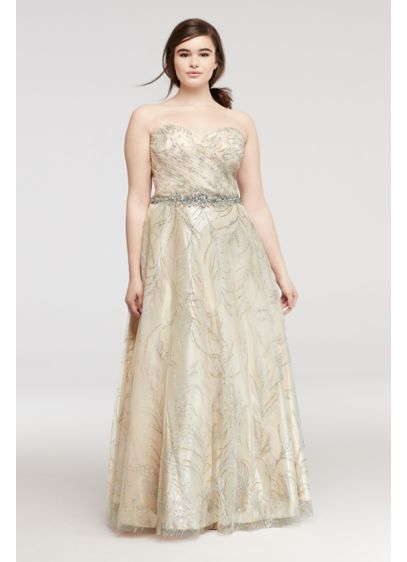Long Ballgown Strapless Guest of Wedding Dress - Cachet