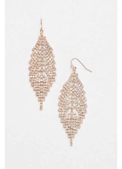 David's Bridal Yellow (Crystal Leaf Chandelier Earrings)