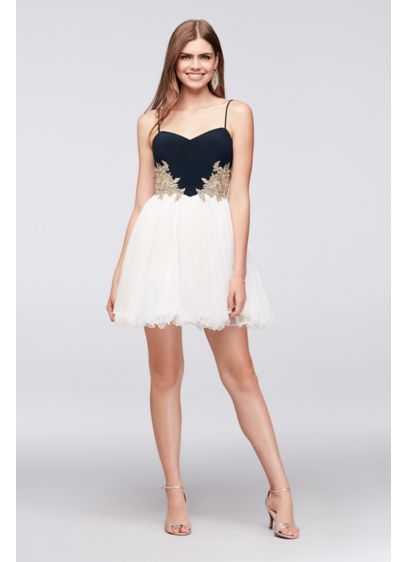 Short Ballgown Spaghetti Strap Cocktail and Party Dress - Blondie Nites