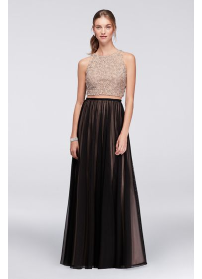 Long Ballgown Tank Cocktail and Party Dress - Cachet