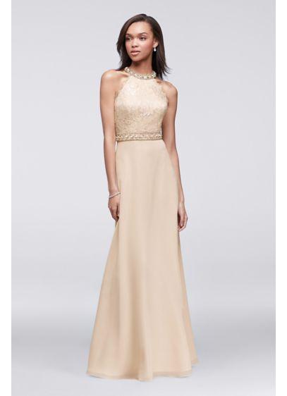 Long A-Line Halter Formal Dresses Dress - Cachet