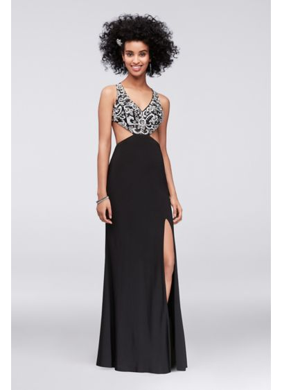 Long Sheath Tank Cocktail and Party Dress - Cachet
