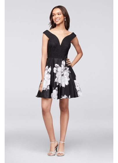 Short Ballgown Off the Shoulder Cocktail and Party Dress -