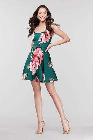 Vestido Floral Con Espalda De Encaje