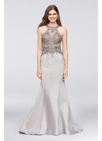 Long Mermaid/ Trumpet Halter Formal Dresses Dress - Cachet