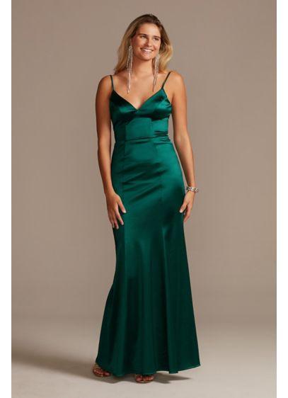 Long Sheath Spaghetti Strap Formal Dresses Dress - City Triangles
