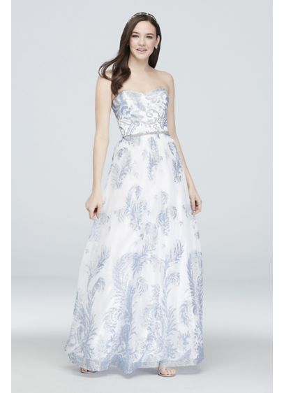 Long Ballgown Strapless Cocktail and Party Dress - Cachet