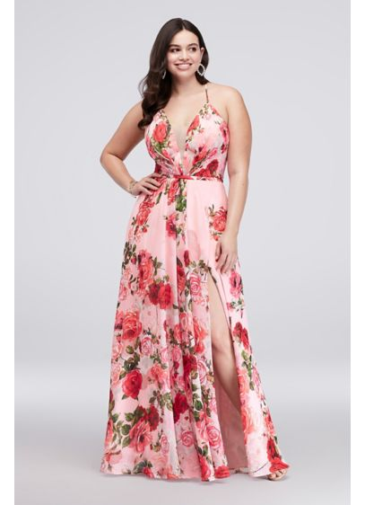 3ac7f2fe88a Long A-Line Spaghetti Strap Cocktail and Party Dress - Cachet