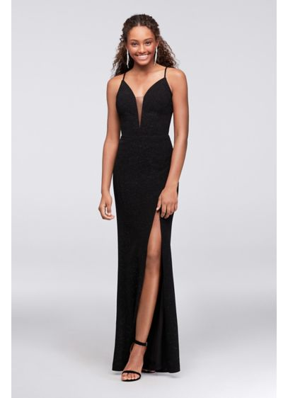 Long Sheath Spaghetti Strap Cocktail and Party Dress - Cachet