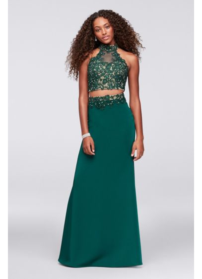 Long Mermaid/ Trumpet Halter Cocktail and Party Dress -