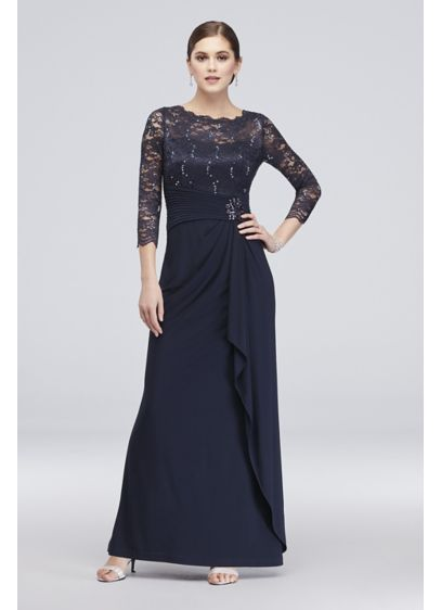 Long Sheath 3/4 Sleeves Cocktail and Party Dress - Cachet