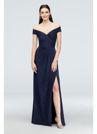 Long A-Line Off the Shoulder Cocktail and Party Dress - Cachet