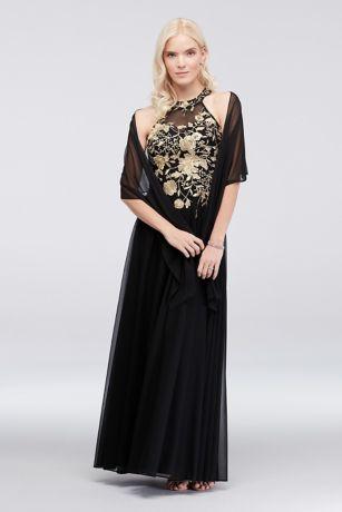 Long A-Line Halter Dress - Cachet