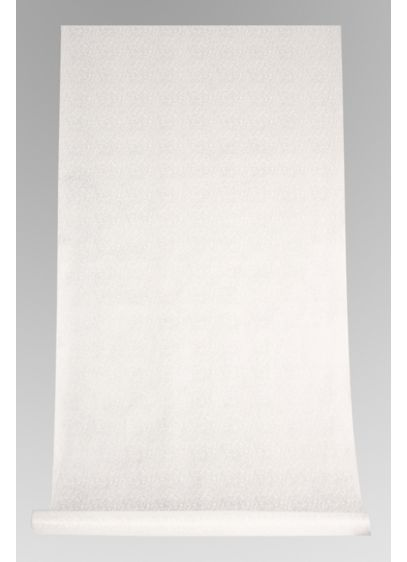 White Victorian Scroll Aisle Runner - A beautiful Victorian scroll pattern sets the backdrop