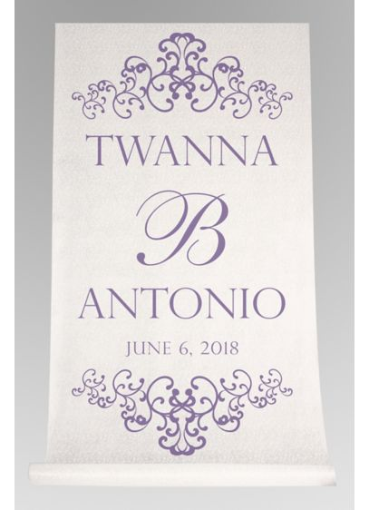 Personalized Watercolor Victorian Aisle Runner - Wedding Gifts & Decorations