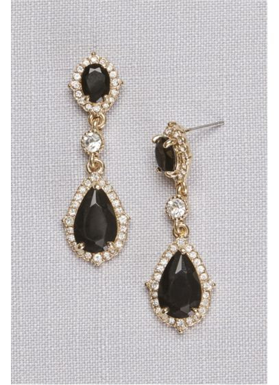 David's Bridal Pink (Filigree and Crystal Drop Earrings)