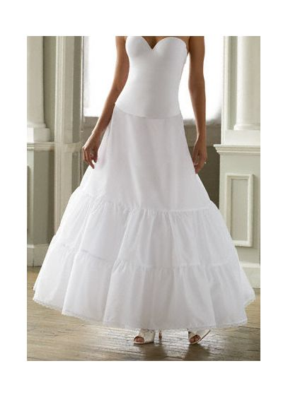 David's Bridal White (Two-Tier Medium Fullness A-Line Slip)