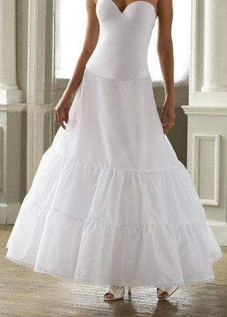 Two Tier Medium Fullness A Line Slip   Wedding Accessories