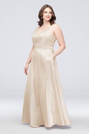 Long Ballgown Spaghetti Strap Dress - Cachet