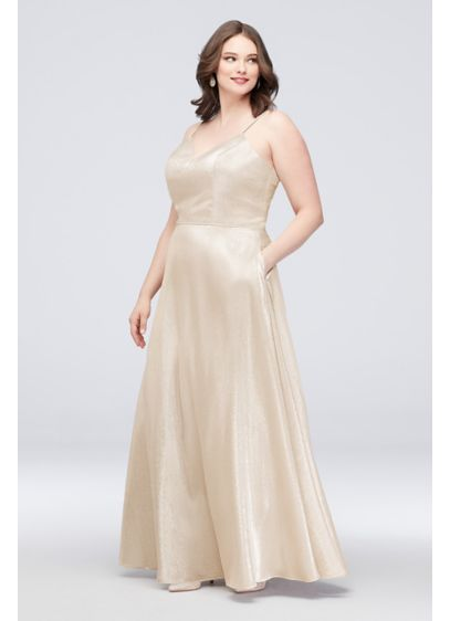 Long Ballgown Spaghetti Strap Cocktail and Party Dress - Cachet