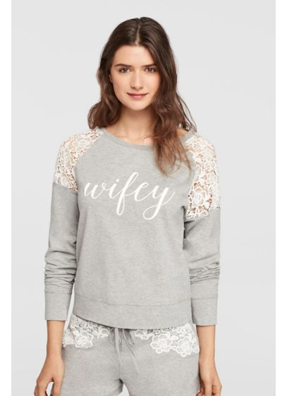 Wifey Lace Sweatshirt - Wedding Gifts & Decorations