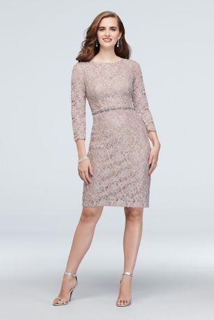 Short Sheath 3/4 Sleeves Dress - Cachet