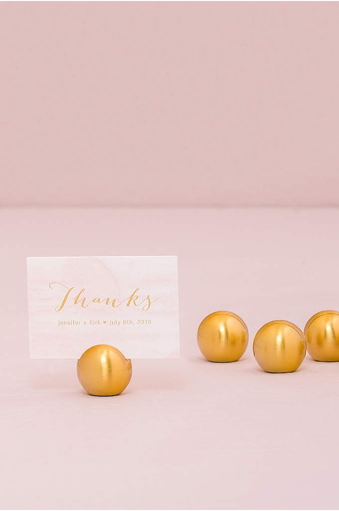 Classic Round Place Card Holders Set of 8 - This stylish place card holder has an understated,