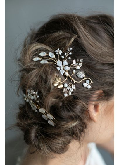 Winter Garden Hair Combs - Wedding Accessories