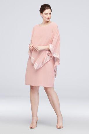 Short Sheath Capelet Dress - Ignite