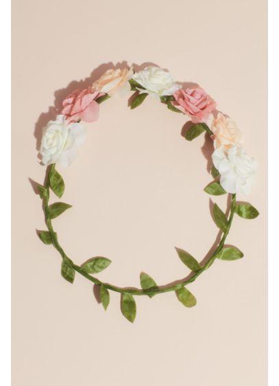 David's Bridal Multi (Flower Girl Headband with Faux Flowers)