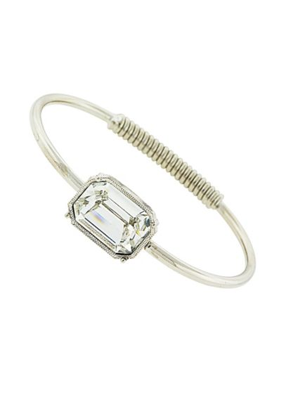 Swarovski Crystal Solitaire Spring Bracelet - Wedding Accessories