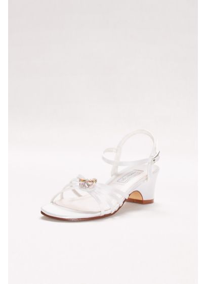 Touch Ups White (Girls Dyeable Betsy Sandals with Crystal Ornament)