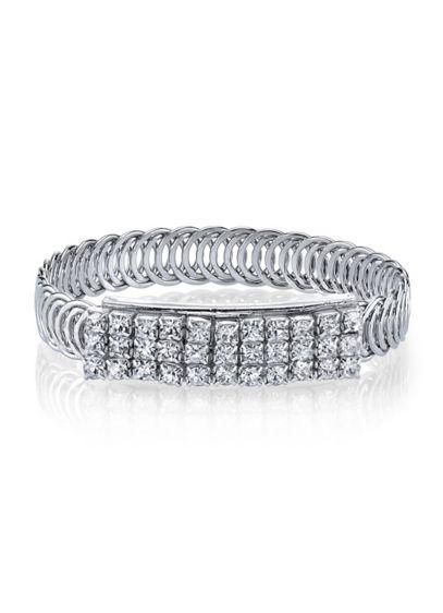Rhinestone Slim Filigree Bracelet - Wedding Accessories