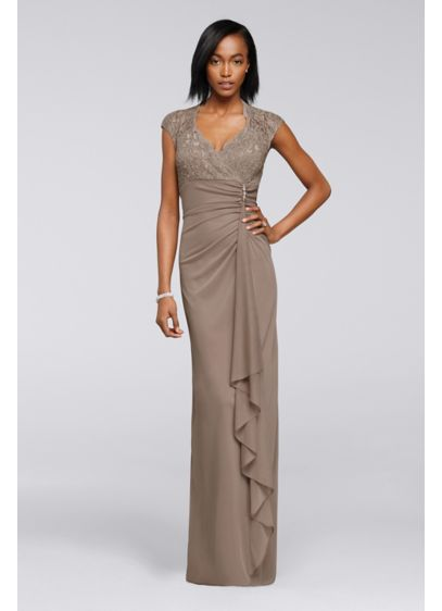 Long Beige Soft & Flowy Onyx Bridesmaid Dress