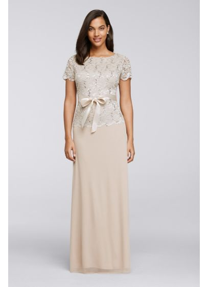 Long A-Line Cap Sleeves Formal Dresses Dress -