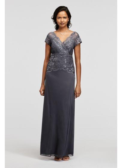 Long Sheath Cap Sleeves Formal Dresses Dress - Marina
