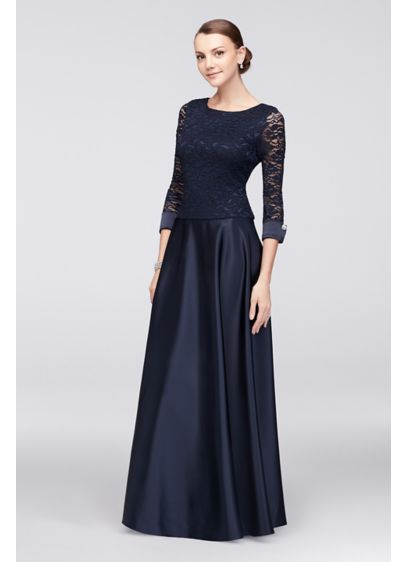Long Ballgown 3/4 Sleeves Cocktail and Party Dress - Jump