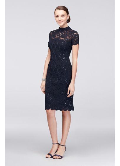 Short Blue Soft & Flowy Onyx Bridesmaid Dress