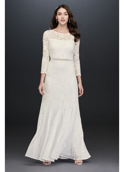 Long Sheath Beach Wedding Dress - Jump